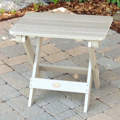 Albion Folding Adirondack Side Table Finish: Whitewash