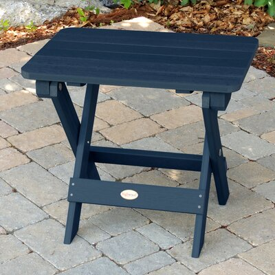 Amiya Folding Adirondack Side Table Finish: Nantucket Blue