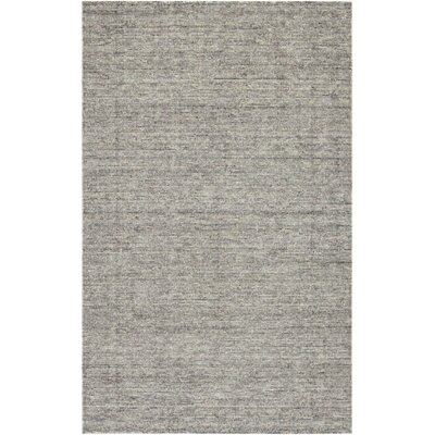 Afton Hand-Loomed Dark Gray Area Rug Rug Size: Rectangle 53 x 76
