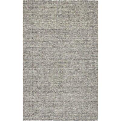 Afton Hand-Loomed Dark Gray Area Rug Rug Size: 2 x 4
