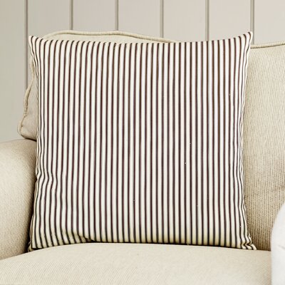 Alafaya Stripes Cotton Throw Pillow Size: 18 x 18