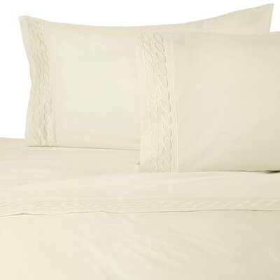 Southbury Sheet Set Color: Ivory, Size: Queen