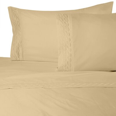 Southbury Sheet Set Color: Gold, Size: King