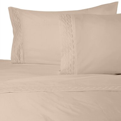 Southbury Sheet Set Color: Taupe, Size: Full