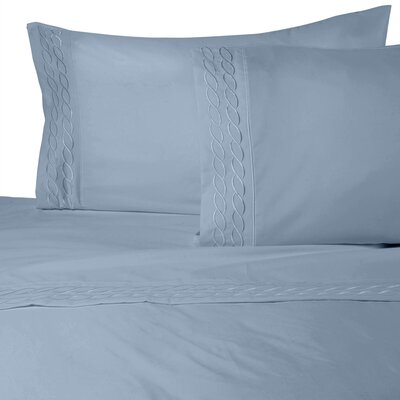 Southbury Sheet Set Color: Blue, Size: King