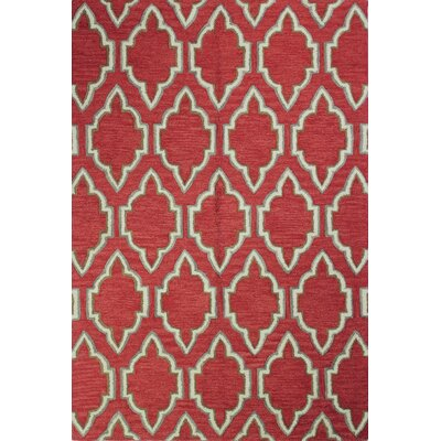 Lynam Hand-Tufted Coral Area Rug Rug Size: 76 x 96