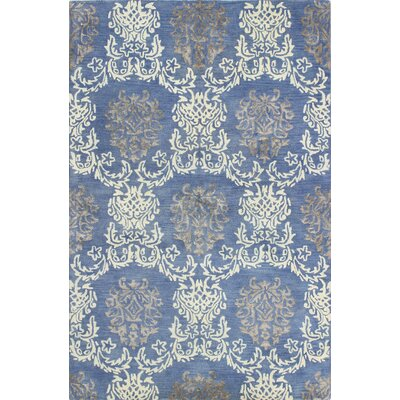 Haverford Hand-Tufted Denim Area Rug Rug Size: 56 x 86
