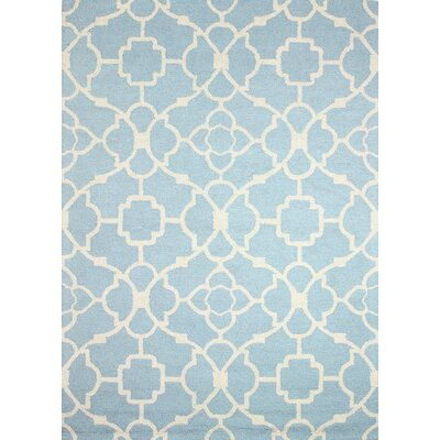 Weybridge Hand-Tufted Light Blue Area Rug Rug Size: 76 x 96