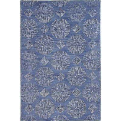 Villanova Hand-Tufted Denim Area Rug Rug Size: 76 x 96