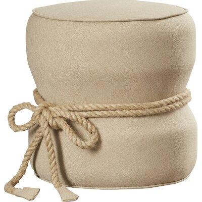 Jones Solid Ottoman Upholstery: Beige