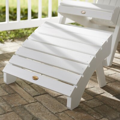 Amiya Folding Ottoman Finish: White