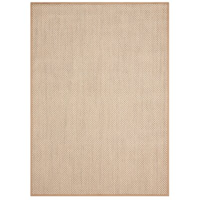 Moira�Beige Area Rug Rug Size: 36 x 56