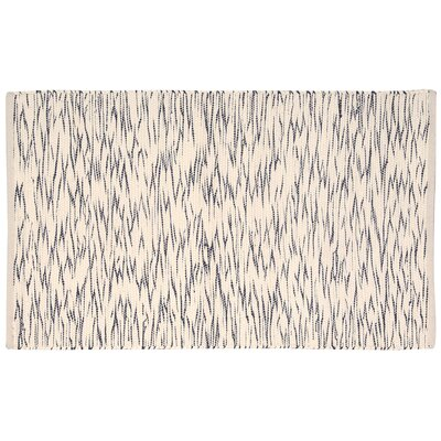 Hutchison Black/Cream Area Rug Rug Size: 26 x 4