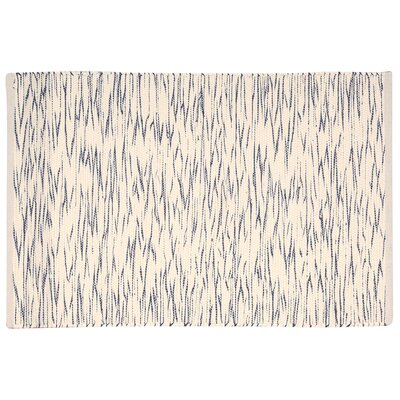 Astley Blue/Cream Area Rug Rug Size: 2 x 3