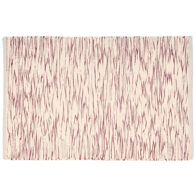 Astley Red/Cream Area Rug Rug Size: 2' x 3'