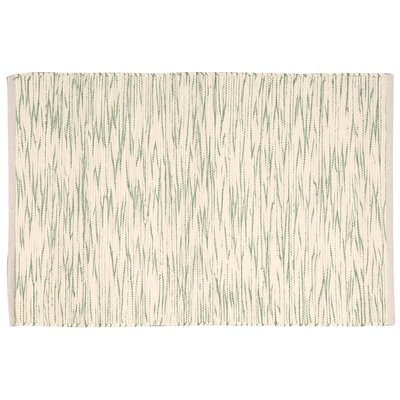 Hutchison Green/Cream Area Rug Rug Size: 2 x 3