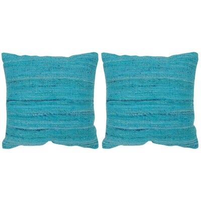 Blaisdell Throw Pillow Color: Brilliant Blue