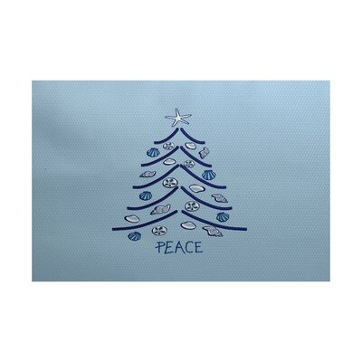 Blue Indoor/Outdoor Area Rug Rug Size: 2' x 3'