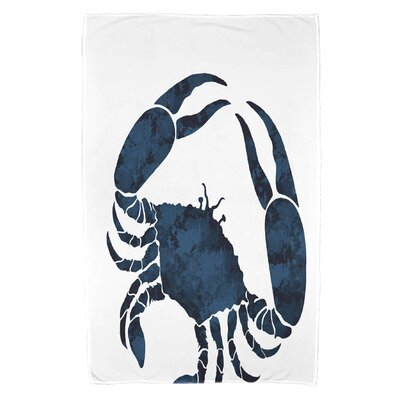 Cedarville Crab Beach Towel Color: Navy Blue