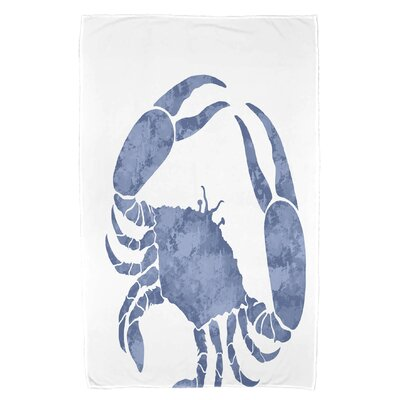 Cedarville Crab Beach Towel Color: Blue