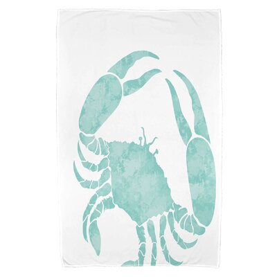 Cedarville Crab Beach Towel Color: Aqua