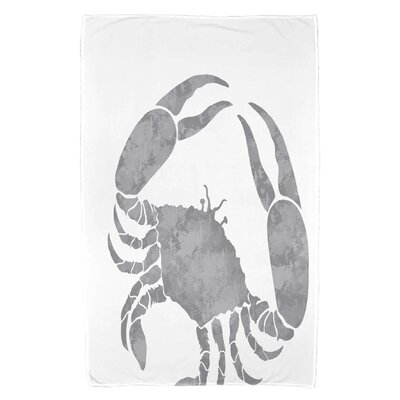 Cedarville Crab Beach Towel Color: Gray