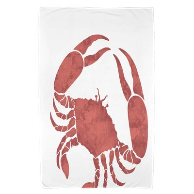 Cedarville Crab Beach Towel Color: Coral