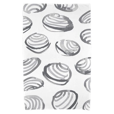 Cedarville Clams Beach Towel Color: Gray