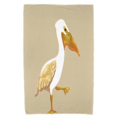 Pelican March Beach Towel Color: Taupe/Beige