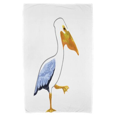 Pelican March Beach Towel Color: White