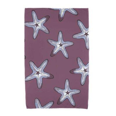 Soft Starfish Beach Towel Color: Purple