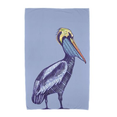 Pelican Beach Towel Color: Blue