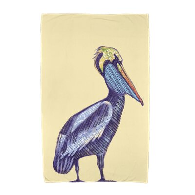 Pelican Beach Towel Color: Yellow