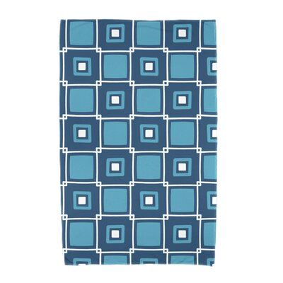 Square Geometric Print Beach Towel Color: Teal