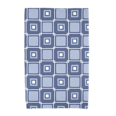 Square Geometric Print Beach Towel Color: Blue