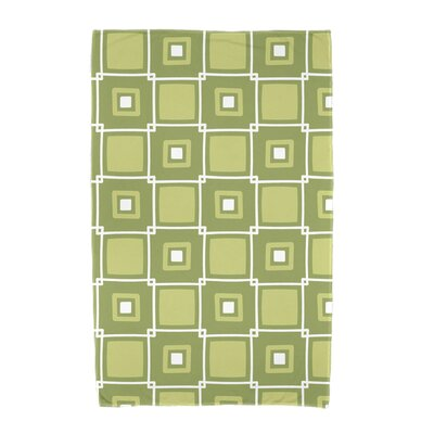 Square Geometric Print Beach Towel Color: Green
