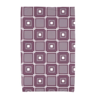 Square Geometric Print Beach Towel Color: Purple