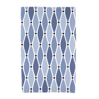 Wavy Geometric Print Cotton Beach Towel Color: Blue