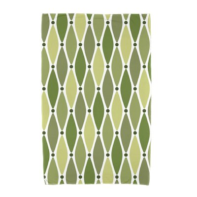 Wavy Geometric Print Cotton Beach Towel Color: Green
