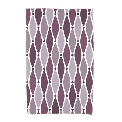 Wavy Geometric Print Cotton Beach Towel Color: Purple