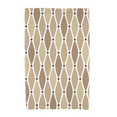 Wavy Geometric Print Cotton Beach Towel Color: Taupe