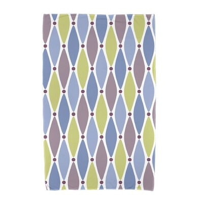 Wavy Geometric Print Beach Towel Color: Blue