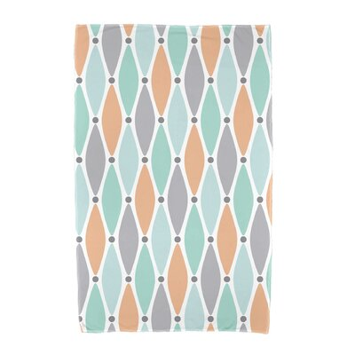 Wavy Geometric Print Beach Towel Color: Aqua