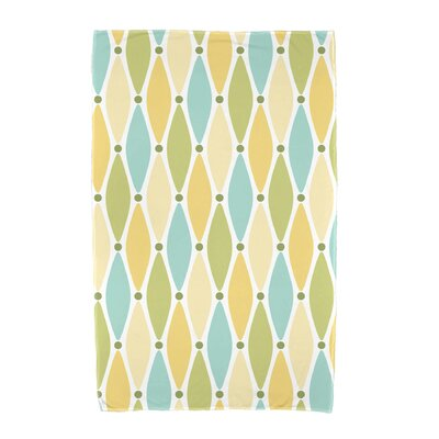 Wavy Geometric Print Beach Towel Color: Yellow