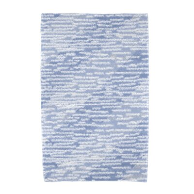 Marled Knit Stripe Beach Towel Color: Blue