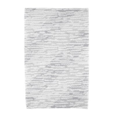 Marled Knit Stripe Beach Towel Color: Gray