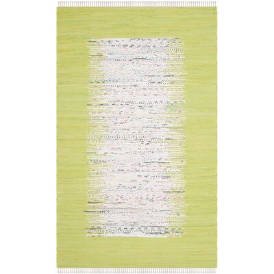 Ona Hand-Woven Ivory / Citron Area Rug Rug Size: 7 x 9