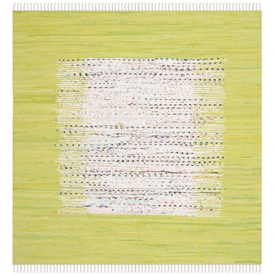 Ona Hand-Woven Ivory/Teal Area Rug Rug Size: Rectangle 7 x 9