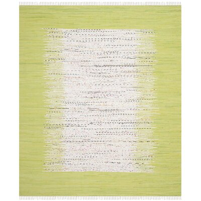 Ona Hand-Woven Ivory / Citron Area Rug Rug Size: 3 x 5