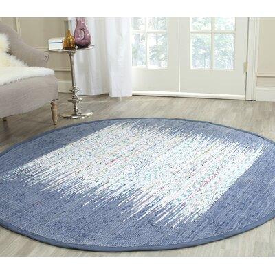 Bartow Ivory/Dark Blue Area Rug Rug Size: 26 x 4